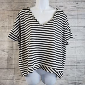 One X One Teaspoon Short Sleeve Top Sz Med Striped